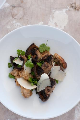 roast mushroom & bread salad