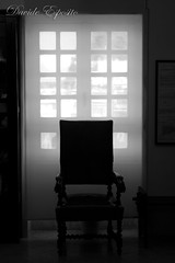 Thought chair (Davide Esposito1) Tags: bw white black backlight chair bn dreamy sedia controluce smcpda1855mmf3556al sognante