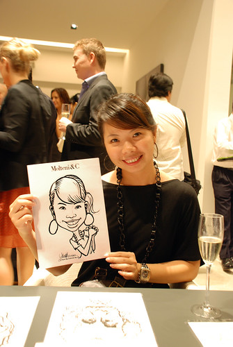 Portrait & Caricature live sketching for Molteni & C - 6