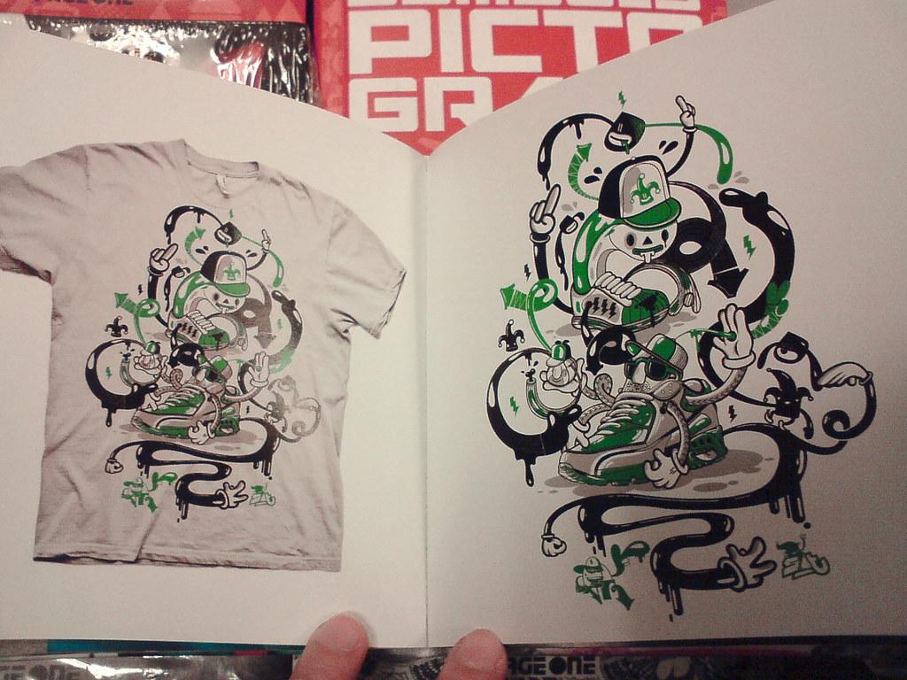 T-shirt design zeixs - Dxtr Sat Collab Seen In Taiwan Zeixs Art Book Stick A Thing_____s_____ A_____t