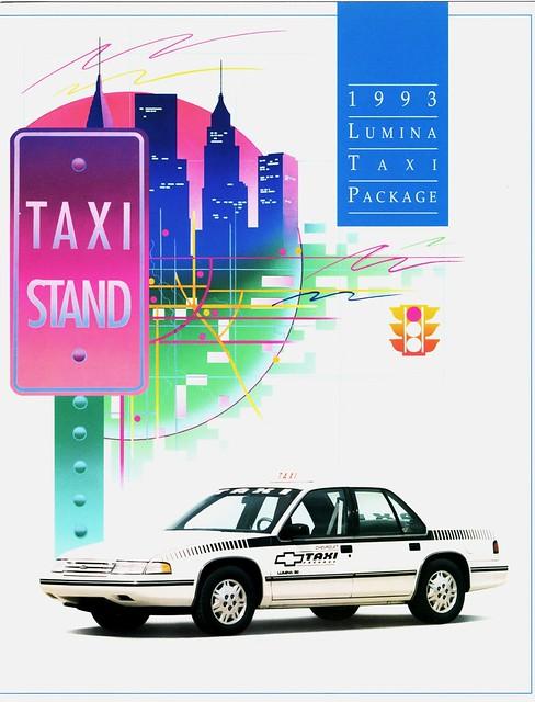 chevrolet taxi 1993 brochure taxicab lumina