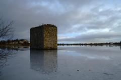 Stanely Castle Landscape (Bora Horza) Tags: winter distortion snow reflection brick castle ice scotland flood glasgow reservoir submerged paisley derelict stanely ruined stanelycastle stanelyreservoir