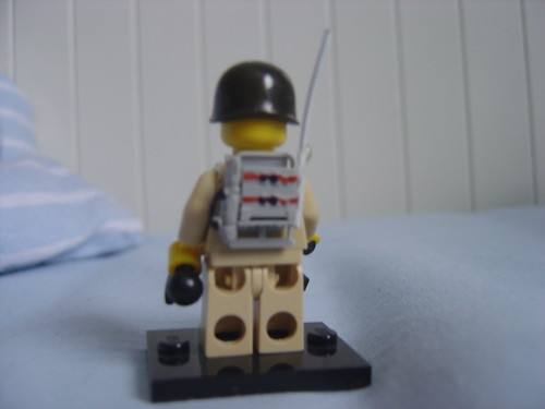 Custom minifig Radio Backpack