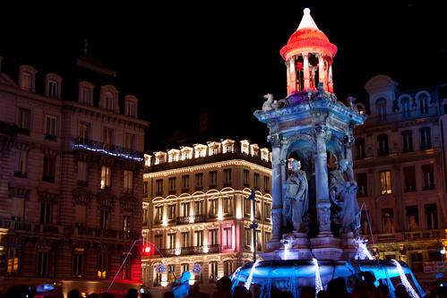 Place des Jacobins, Lyon, Fête des Lumières 2010