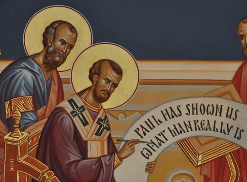 St. Paul inspiring St. John Chrysostom