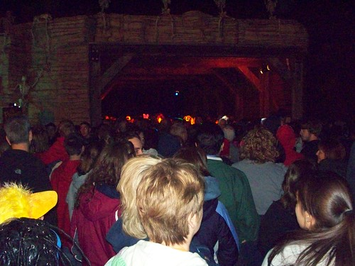 Cedar Point - Crowded Fright Zone Tunnel
