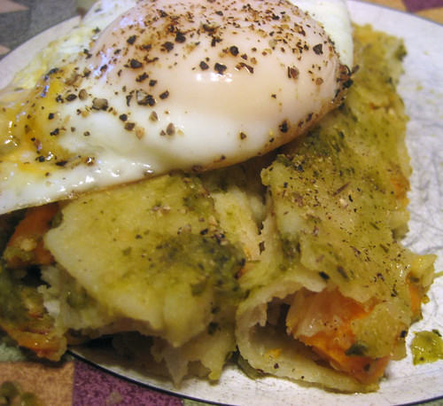 egg on enchilada