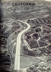 Army Street Circle interchange with US 101 (1951) (Eric Fischer) Tags: sanfrancisco aerial freeway bernalheights missiondistrict us101 cesarchavezstreet bayshorefreeway armystreet jameslickfreeway unitedstateshighway101