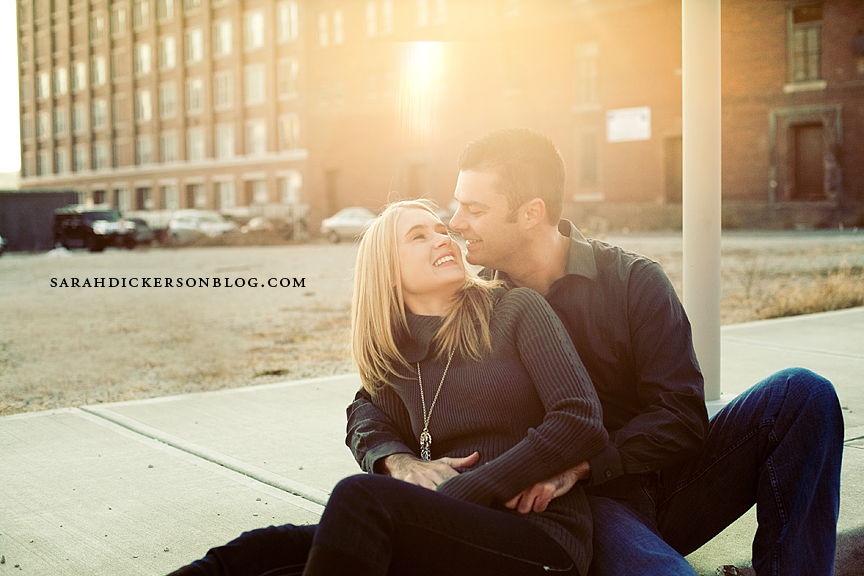 Crossroads Art District engagement photography