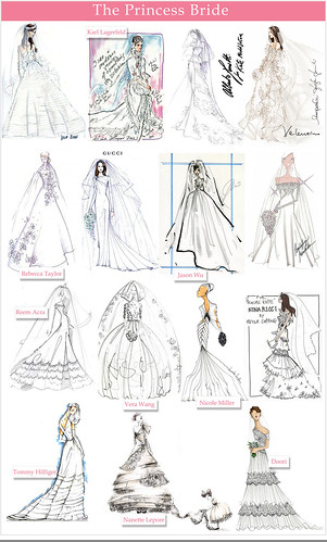 kate middleton wedding dress sketch. Kate Middleton#39;s Wedding Dress
