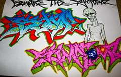 Invaders (Symptomz) Tags: graffiti sketch style aliens invaders blackbook symptomz