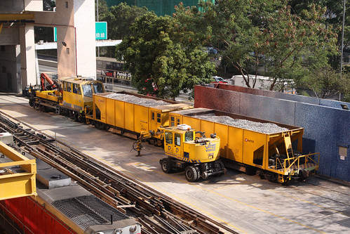 Ballast wagons at Fo Tan Depot