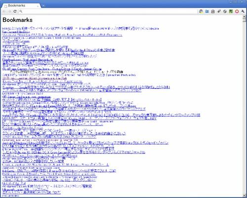 エクスポートした HTML をブラウザで開く