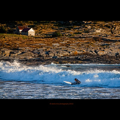 nordic surfing (stella-mia) Tags: sunset sea sun water norway waves wave surfing explore fjord 70200mm alnes hightlight explored extenderef2xii canon5dmkii annakrmcke