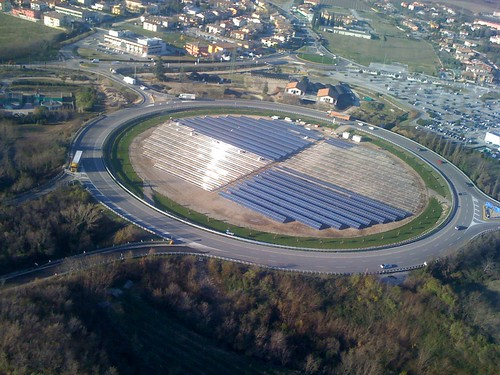 photovoltaic in the roundabout in Affi