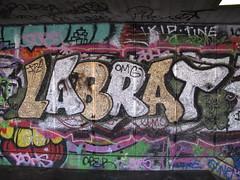 Labrat (duncan) Tags: london graffiti southbank labrat