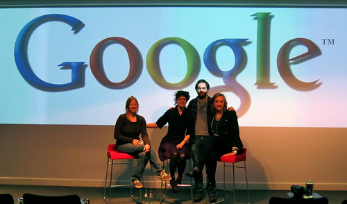 Me (eye closed as always), Regine, our volunteer and Google employee Shane and Marika after the PIH and invidual action talk we gave at Google Dublin.