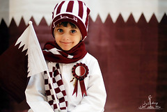 Happy National Day Qatar<<<Explored (  l alshoog36re  IN USA) Tags: happy national day qatar qtr doha saleh baby children boy smile nikon d80 alshoog36re                softbox flag