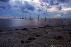 penantian.. (As |||) Tags: sunset seascape beach laut slowshutter johor goldenhour muar pantaisrimenanti