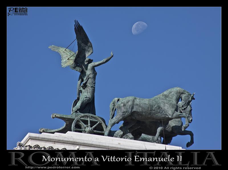 Roma - Monumento a Vittorio Emanuele II - Cuádriga