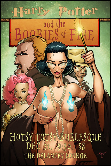 Hotsy Totsy Burlesque presents Harry Potter and the Boobies of Fire