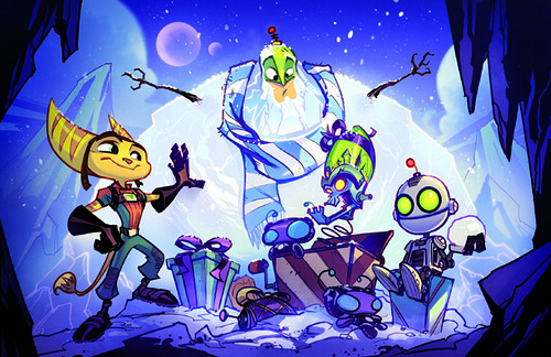 Insomniac Games 2009 Holiday card