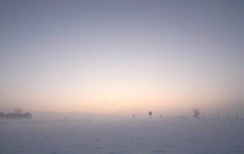 3 in 1: snow fog sunset