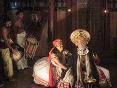 Kutiyattam, Performing Art of Kerala (gerpower) Tags: show travel music india art drums stage makeup kerala backpacking fortkochin kutiyattam
