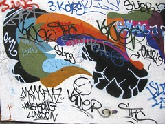 London - South Bank Graffiti (farg4graf) Tags: color colour london colors graveyard dead hongkong graffiti design artwork stencil shoes paint artist colours south bank tags aerosol skateboards ths skill byu bridge nozzles london south can bank slie cemetery millennium graveyard oml graffiti spray broken boards skate skateboard 3kofe mrmemz mamenaz