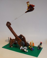 Heron's Flying Horse (-lokosuperfluoLEGOman-) Tags: heron bike greek lego greece minifig speeder spartan catapult