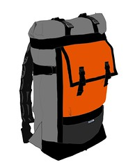 Rolltop Backpack Gray and Orange 5 (monsterpartyhat) Tags: handmade mockup backpack custom rolltop colorways zugsterbags zugster