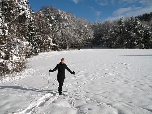 Winterstimmung bei Matschatsch auf dem Weg zum Aussichtshügel