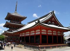 Kiyomizu-dera Temple   Kyoto   Japan (Christian Junker - AHKGAP) Tags: heritage monument japan canon temple eos pagoda ancient kyoto asia buddhist ngc unesco 7d nippon prefecture kiyomizudera otowasan 18135mm flickraward earthasia worldtrekker motleypixel touraroundtheworld
