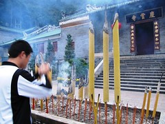 Praying, Huge Incense Sticks