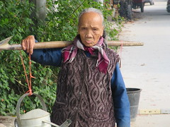 100 year old woman, Carrying 100 pounds