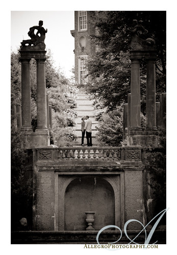 crane-estate-wedding-engagement-ipswich- ma ruins of italian sunken gardens in north shore of boston area