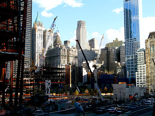 Building work at the former World Trade Centre, NYC by Karen Strunks