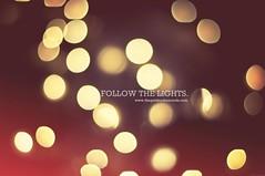 Follow the lights (p3cupcake) Tags: christmas winter beautiful glitter lights cue bokeh sparkle explore 2010 356