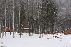 Whisper Mountain :: cabins & Hub (Along The Trail) Tags: winter snow snowpiles natureinwinter whispermountain christianyouthcampinwinter