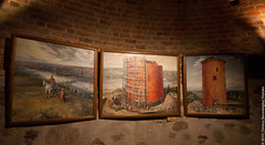 Kamenets Tower Exhibits (lemmingby) Tags: travels interiors towers paintings historic trips belarus museums exhibits kamenets brestregion