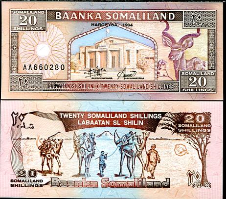 20 Šilingov Somaliland 1994, P2