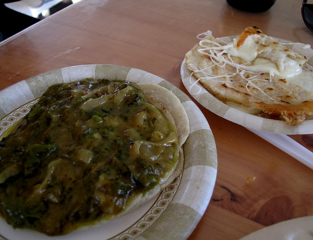 Rajas and Quesadilla at La Super Rica - Santa Barbara
