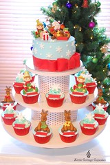 Christmas Fun (Little Cottage Cupcakes) Tags: santa christmas cakes cake snowflakes cupcakes presents bow ribbon rudolph reindeers elves fondant cupcaketower sugarpaste littlecottagecupcakes