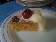 Cherry Tart with Rosewater Cream