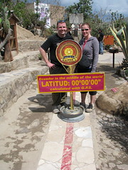 Meg and Dave on Equator, Museo Sitio Intinan