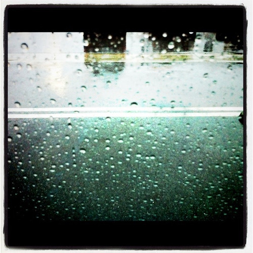 Project 365 2/365: A view from the van, rain everywhere
