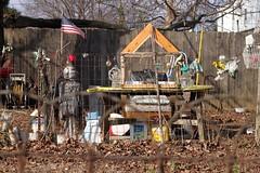 Neighbor (Josh Koonce) Tags: art canon eos rebel 50mm backyard junk artist outsiderart kentucky ky louisville 500d ef50mm t1i canoneosrebelt1i
