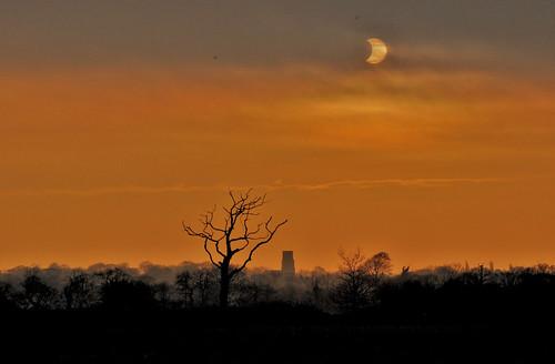 solar eclipse north norfolk, uk