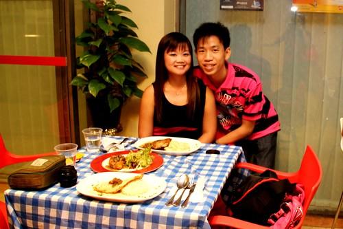 Us at La Petite Cuisine