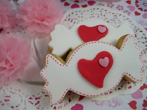 valentine heart candy cookies